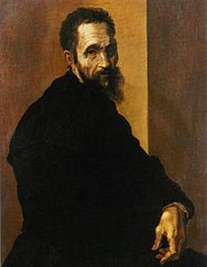 Michelangelo Buonarroti (n. 6 martie 1475, Caprese, Provincia Arezzo - d. 18 februarie 1564, Roma) a fost, alături de Leonardo da Vinci, cel mai important artist în perioada de vârf a Renașterii italiene. Geniul său universal este deopotrivă oglindit de pictură, desen, sculptură și arhitectură. A scris și poezii, în special în genul sonetului și madrigalului - in imagine, Michelangelo - Portret executat de Jacopino del Conte, 1535 - foto: ro.wikipedia.org