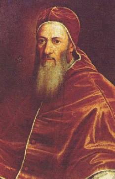 """Papa Iulius al III-lea a fost un papă al Romei. S-a îndrǎgostit de un cerșetor de 17 ani, pe care l-a fǎcut cardinal, fapt ce a inspirat poezia """"În cinstea sodomiei"""" - foto: ro.wikipedia.org/"""
