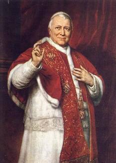 Papa Pius al IX-lea, născut Giovanni Maria Mastai-Ferretti, (n. 13 mai 1792, Senigallia, Italia – d. 7 februarie 1878, Roma) a fost Papă timp de 31 de ani din 16 iunie 1846 până la moartea sa. Este cel mai prelungit pontificat din istoria Bisericii. A convocat Conciliul Vatican I în 1869, care a declarat dogma infailibilității papale. Papa Pius al IX-lea a definit și conceptul a Neprihănitei Zămisliri a Feciorei Maria, care înseamnă că Maria a fost concepută în afara păcatului primordial. A fost beatificat (declarat fericit). Papa Pius al IX-lea a refuzat să elibereze copilul evreu Edgardo Mortara, care fusese răpit, la vârsta de 6 ani, din familia lui de poliția papală, ca să fie educat ca creștin catolic. Acest scandal a otrăvit relațiile Papei cu comunitățile evreiești și cu cercurile liberale contemporane - foto: ro.wikipedia.org