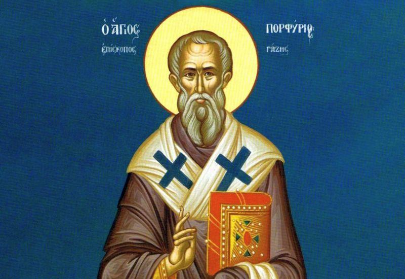 Sf. Ier. Porfirie, Episcopul Gazei (cca 347 - 420) - foto preluat de pe ziarullumina.ro