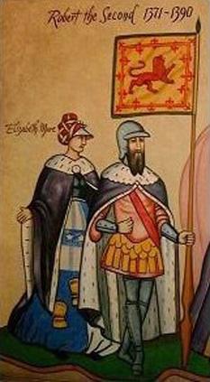 Robert al II-lea ( 1316 – 19 aprilie 1390), a fost  primul rege din dinastia Stuart. si a domnit intre 22 februarie 1371 – 19 aprilie  1390 - foto: cersipamantromanesc.wordpress.com