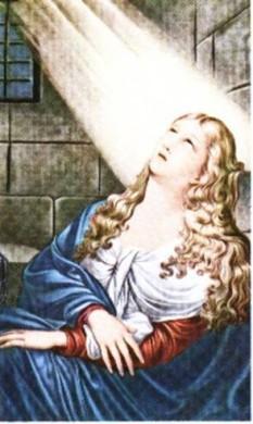 Agata (n. 235, Catania, Sicilia, d. 251) este o sfântă şi martiră creştină, in imagine, Sf. Agata în închisoare - foto: ro.wikipedia.org