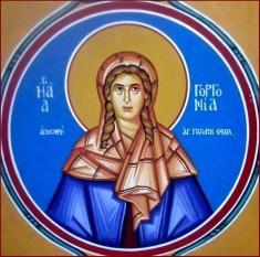 Sfânta Cuvioasă Gorgonia. Prăznuirea sa de către Biserica Ortodoxă se face la data de 23 februarie - foto: doxologia.ro