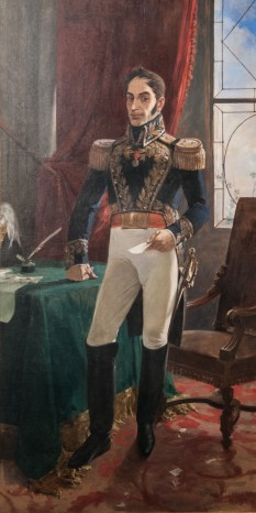 """Simón José Antonio de la Santísima Trinidad Bolívar y Ponte Palacios y Blanco, cunoscut mai mult ca Simón Bolívar (n. 24 iulie 1783 în Caracas, Venezuela - d. 17 decembrie, 1830, în Santa Marta, Columbia) a fost conducătorul unor mișcări de independență în America de Sud, numite uneori """"Războiul lui Bolívar"""" - foto: ro.wikipedia.org"""
