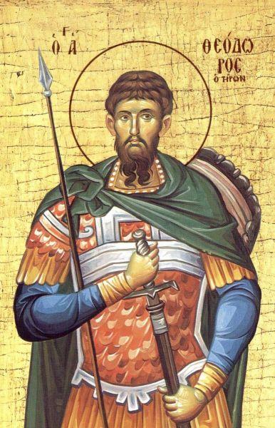 Sfântul mare mucenic Teodor Tiron a trăit pe vremea împăraților Maximian și Maximin și era de fel din mitropolia Amasiei (provincia Pont), din localitatea ce se chema Himialon. Era militar, și a pătimit în timpul persecuției lui Maximin (aprox. 303). Prăznuirea lui se face la 17 februarie, iar în primă sâmbătă din Postul Mare se face pomenire de minunea colivei, pe care a făcut-o la 50 de ani după moarte - foto: doxologia.ro