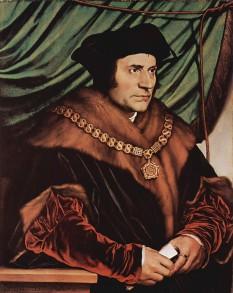 Thomas Morus, în engleză Thomas More, (n. 7 februarie 1478, Londra - d. 6 iulie 1535, Londra) a fost un avocat, scriitor și om de stat englez, personalitate reprezentativă a umanismului din Europa - in imagine, Thomas Morus, portret de Hans Holbein cel Tânăr 1527 - foto: ro.wikipedia.org