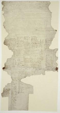 Tratatul de la Waitangi (în engleză Treaty of Waitangi, în māori Te Tiriti o Waitangi) este un tratat semnat la 6 februarie 1840, de reprezentanți ai Coroanei britanice, și de diferite căpetenii Māori din nordul Insulei de Nord a Noii Zeelande. Tratatul stipula înființarea postului de guvernator britanic în Noua Zeelandă, recunoștea propietatea populației Māori asupra pământurilor și bunurilor sale și acorda băștinașilor Māori egalitatea de drepturi față de cetățenii britanici. Versiunile în engleză și limba Māori sunt semnificativ diferite și deci nu există consens cu privire la articolele convenite de fapt. Din punctul de vedere britanic, tratatul acorda Regatului Unit suveranitatea asupra Noii Zeelande și guvernatorului îi acorda dreptul de a conduce țara; în rândurile Māorilor, se pare că tratatul a fost interpretat în mai multe modalități dintre care multe erau în conflict cu interpretarea britanică. După semnarea de la Waitangi, un număr de copii ale tratatului au fost circulate prin Noua Zeelandă și au fost semnate de mulți alți șefi de trib - in imagine, O copie a tratatului de la Waitangi - foto: ro.wikipedia.org