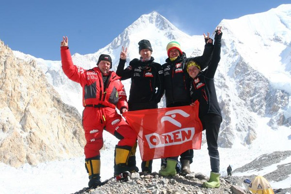 Uczestnicy wyprawy, od lewej: Artur Hajzer, Janusz Gołąb, Adam Bielecki, Agna Bielecka - foto: outdoormagazyn.pl
