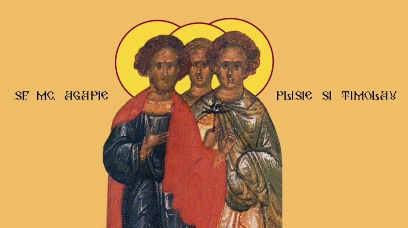Sf. Mc. Agapie, Plisie şi Timolau (sec. III - IV) - foto preluat de pe ziarullumina.ro