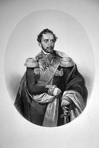 Alexandru D. Ghica (n. 1796 – d. 1862) a fost primul domnitor regulamentar al Țării Românești, între aprilie 1834 și 7 octombrie 1842, iar mai târziu caimacam între 4 iulie 1856 - octombrie 1858 - foto: ro.wikipedia.org