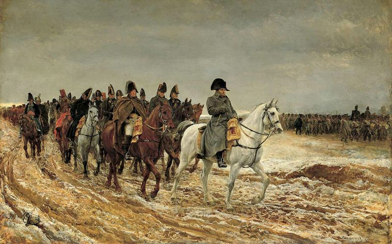 Napoleon and his staff are returning from Soissons after the battle of Laon - foto: en.wikipedia.org