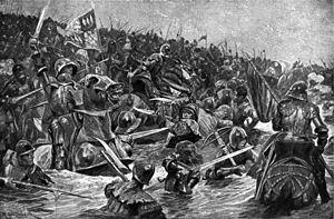 Bătălia de la Towton (pronunțat în engleză ˈtaʊtən) a avut loc în Duminica Floriilor, pe o vreme cu ninsoare, la 29 martie 1461 pe un platou dintre satele Towton și Saxton din Yorkshire (la circa 19 km sud-vest de York și 3 km sud de Tadcaster) - foto: en.wikipedia.org