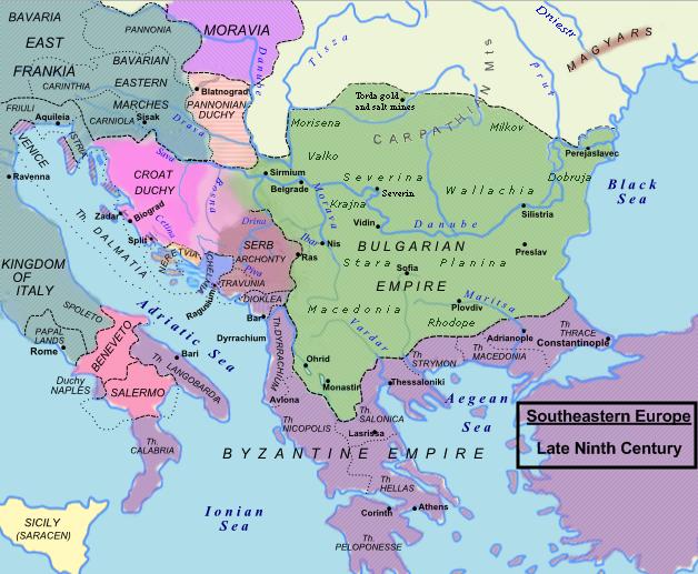 Duchy of Croatia in 850 - foto: en.wikipedia.org