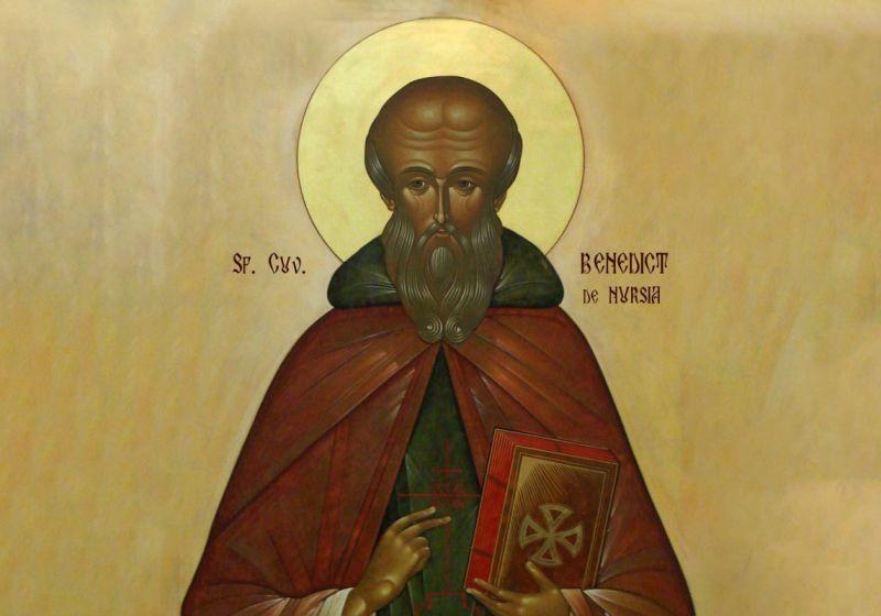 Benedict de Nursia (480 - 543) - foto preluat de pe ziarullumina.ro