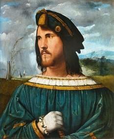 Cesare Borgia (n. 13 septembrie 1475 – d. 12 martie 1507), Duce de Valentinois, a fost un nobil, condottiero, om politic și cardinal spaniol. A fost fiul papei Alexandru al VI-lea și al amantei sale, Vannozza dei Cattanei. A fost fratele lui Lucrezia Borgia, Giovanni Borgia, Duce de Gandia, și Gioffre Borgia, prinț de Squillace. A fost pe jumătate frate cu Don Pedro Luis de Borja (1460–1481) și Girolamo de Borja, copii ale unor mame necunoscute - in imagine, Portret al lui Cesare Borgia realizat de către Altobello Melone Bergamo, Accademia Carrara - foto: ro.wikipedia.org