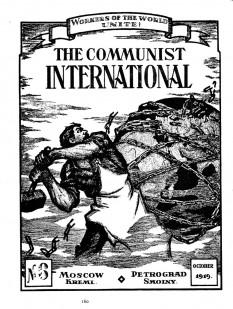 """Prima ediţie a ziarului Cominternului, Internaţionala Comunistă, publicat în Moscova și Petrograd (Sankt Peterburg) în mai 1919. Lozinca din partea superioară a paginii este: """"Proletari din toate țările, uniți-vă!"""" - foto: ro.wikipedia.org"""