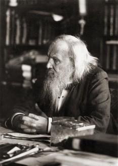 Dimitri Ivanovici Mendeleev (n. 27 ianuarie 1834 (S.N. 8 februarie), Tobolsk, Imperiul Rus – d. 20 ianuarie 1907 (S.N. 2 februarie), Sankt Petersburg, Imperiul Rus) a fost un chimist rus care a publicat un tabel periodic al elementelor asemănător cu cel actual. Tabloul lui Mendeleev era o reprezentare mai completă a relației complexe dintre elementele chimice, și, pe de altă parte, cu ajutorul acelui tabel, Mendeleev a fost capabil să prezică atât existența altor elemente (pe care le-a numit eka-elemente) nici măcar bănuite a exista pe vremea sa, precum și a proprietăților lor generale. Majoritatea previziunilor sale au fost confirmate de descoperirile ulterioare din chimie -  foto: ro.wikipedia.org
