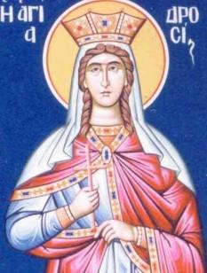Sfânta Drosida era fiica împăratului roman Traian. Prăznuirea ei se face pe 22 martie, împreună cu cele cinci fecioare: Aglaida, Apolinaria, Daria, Mamtuza și Taisia - foto: doxologia.ro