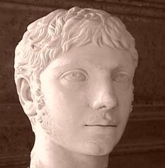 Elagabal sau Eliogabal (în latină: Elagabalus sau Heliogabalus; cca. 203 – 11 martie 222), născut Varius Avitus Bassus și cunoscut de asemenea ca Varius Avitus Bassianus Marcus Aurelius Antoninus, a fost împărat roman al dinastiei Severilor și a domnit din 218 până în 222. Fiu al lui Sextus Varius Marcellus, cavaler roman din Apaeea și al Iuliei Soaemias, nepot al împăratului Caracalla, preot din Emesa al zeului soare (Elah-Gabal), numit de posteritate Elagabal (Heliogabalus), este proclamat împărat în primăvara anului 218 de legiunile din Siria, nemulțumite de politica austeră a lui Macrinus. Elagabal dobândește tronul imperial, restabilind dinastia Severilor. Puterea reală este exercitată însă de Iulia Maesa (bunica) și Iulia Soaemias (mama sa). Politica autocrată, excesele și capriciile împăratului-copil compromit în scurt timp noul regim. Sub presiunile Iuliei Maesa, Elagabalus îl adoptă și-l ridică la rangul de caesar pe M. Aurelius Alexander, vărul său (221). S-a căsătorit împotriva tradițiilor, cu o vestală și se comporta într-un mod bizar (se farda, îmbrăca costume femeiești) ceea ce a mărit nemulțumirile opiniei publice. Moare ucis, împreună cu mama sa, de garda pretoriană în martie 222 - in imagine, Bust al lui Eliogabal aflat la Capitoline Museums - foto: ro.wikipedia.org