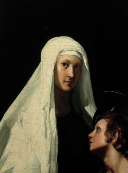 Giovanni Antonio Galli - Santa Francesca Romana con l'angelo - foto: commons.wikimedia.org