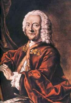 Georg Philipp Telemann (n. 14 martie 1681 - d. 25 iunie 1767) a fost un compozitor, multi-instrumentist și scriitor german din perioada barocului. Un muzician aproape complet autodidact, a devenit un compozitor împotriva dorințelor familiei sale - in imagine, Georg Philipp Telemann, acvatintă colorată manual de Valentin Daniel Preisler după un portret pierdut al lui Ludwig Michael Schneider (1750) - foto: ro.wikipedia.org