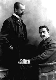 Heinrich şi Thomas Mann în 1900 - foto: ro.wikipedia.org
