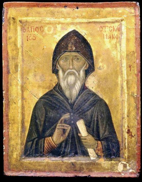 Sfântul Ioan Scărarul (Sf. Ioan din Sinai ori Sinaitul, uneori numit și Ioan Scolasticul sau Ioan Climax) a fost un cuvios monah care a trăit în secolele VI-VII (579-649) la mănăstirea de pe muntele Sinai, al cărei egumen a și fost. Ioan Scărarul este un important Părinte duhovnicesc al Răsăritului, care a lăsat posterității o cunoscută lucrare de spiritualitate cunoscută sub numele de Scara dumnezeiescului urcuș sau Scara Raiului (sau Leastvița - după termenul slavonesc). Pomenirea sa se face la 30 martie - foto: basilica.ro
