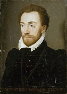 Ludovic de Bourbon-Condé, prinț de Condé (7 mai 1530 - 13 martie 1569) a fost un proeminent lider general hughenot, fondator al Casei de Condé, o ramură a Casei de Bourbon. A fost cel de-al cincilea fiu a lui Charles de Bourbon, Duce de Vendôme, fratele mai mic a lui Antoine de Bourbon căsătorit cu Ioana a III-a a Navarrei (fiul lor, nepotul lui Condé, a devenit regele Henric al IV-lea al Franței). Ca general în armata franceză, Condé a luptat în Bătălia de la Metz, în 1552, când François, Duce de Guise a apărat cu succes orașul de forțele împăratului Carol al V-lea, și în Bătălia de la St Quentin, în 1557. După ce s-a convertit la protestantism, a fost suspectat de a fi implicat în Complotul de la Amboise în 1560. Condé a fost ucis în Bătălia de la Jarnac, 1569. Fiul său Henri, a devenit, de asemenea, general huguenot - foto: ro.wikipedia.org