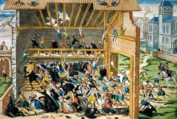 Massacre de Vassy in 1562, print by Hogenberg end of 16th century - foto: en.wikipedia.org