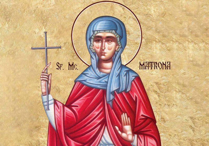 Sf. Mc. Matrona din Tesalonic - foto preluat de pe ziarullumina.ro