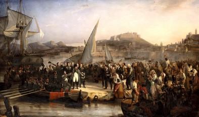 Napoleon Bonaparte leaving Elba on 26 February 1815 - foto: en.wikipedia.org