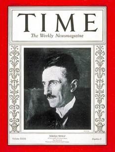 Time, al cărui nume se scrie de fapt cu majuscule TIME, este o revistă săptămânală americană, similară în subiectele abordate și stil cu Newsweek și U.S. News & World Report. Time este publicată simultan în Canada, având o secțiune de reclamă total diferită de cea din Statele Unite ale Americii. Revista a fost publicată prima oară la data de 3 martie 1923 și este deținută de gigantul media Time Warner, prin subsidiara Time Inc. Tirajul revistei în anul 2007 a fost de 3.374.505 de exemplare tipărite săptămânal, față de 4.038.508 exemplare în anul 2005 - in imagine, Nikola Tesla pe coperta revistei Time din 20 iulie 1931 - foto: ro.wikipedia.org