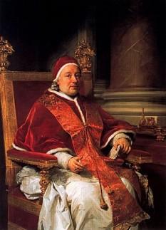 Papa Clement al XIII-lea (cu numele laic Carlo della Torre di Rezzonico; n. 7 martie 1693, Veneția — d. 2 februarie 1769, Roma) a fost ales papă la 6 iulie 1758. A fost un episcop al Romei și Papă al Bisericii Universale, între 6 iulie 1758 și 2 februarie 1769. Este cunoscut cu numele în latină Clemens XIII, în italiană Clemente XIII, în franceză Clément XIII - foto: ro.wikipedia.org