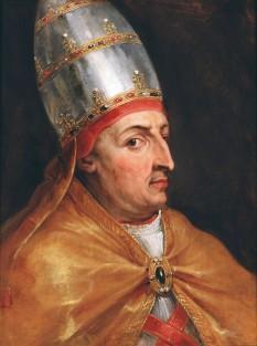Papa Nicolae al V-lea (n. 15 noiembrie 1397 - d. 24 martie 1455) a fost Papă al Romei în perioada 6 martie 1447 - 24 martie 1455. Papa Nicolae al V-lea s-a născut cu numele de Tommaso Parentucelli. Pontificatul său a fost marcat de evenimente dramatice, dintre care cel mai important este Căderea Constantinopolului. El este ultimul papă cu numele de Nicolae  - foto: ro.wikipedia.org