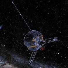 Pioneer 10 este o navă spațială lansată la 2 martie 1972 de NASA. Aceasta este destinată în primul rând studierii planetei Jupiter, totodată fiind și prima navă spațială care a zburat în apropierea de Jupiter și a realizat fotografii ale planetei. Nava geamănă, Pioneer 11, a cercetat planeta Saturn - foto: ro.wikipedia.org