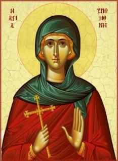 Sfânta Cuvioasă Ipomoni. Praznuirea sa de catre Biserica Ortodoxa se face la  13 martie - foto: doxologia.ro