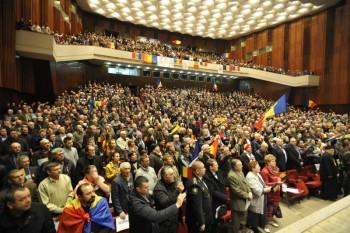"""Sfatul Ţării 2 şi marşul unionist """"Dăm start Unirii"""" - foto: Constantin Grigoriţă - actiunea2012.ro"""