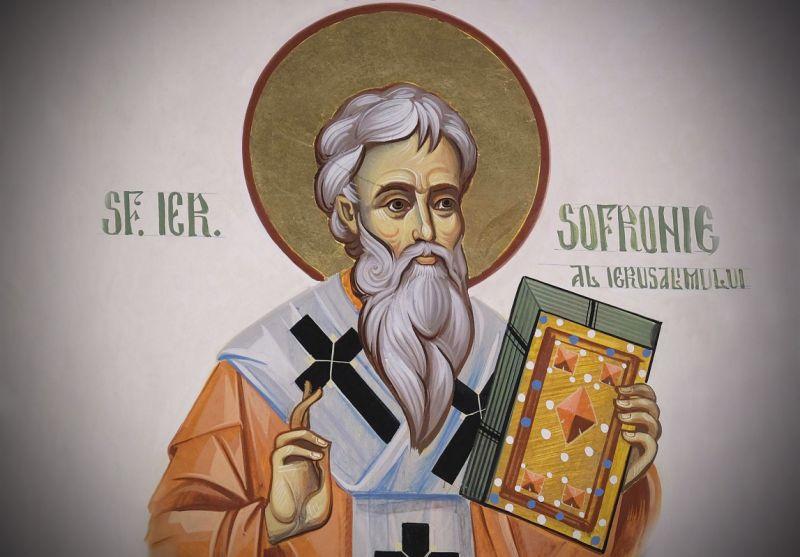 Sofronie I al Ierusalimului (550/560 - 638) - foto preluat de pe ziarullumina.ro