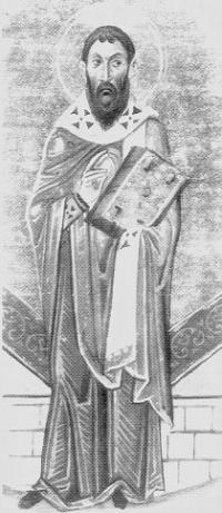 Cel întru sfinți părintele nostru Sofronie I al Ierusalimului a fost patriarh al Ierusalimului între anii 634-638. A fost patriarh atunci când Ierusalimul a căzut în mâinile sarazinilor, sub conducerea lui Omar I, în 637. A fost un hotărât luptător împotriva ereziei monotelite. Prăznuirea sa în Biserica Ortodoxă se face pe 11 martie - foto preluat de pe ro.orthodoxwiki.org