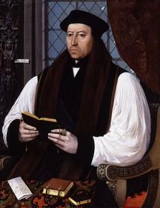 Thomas Cranmer (2 iulie 1489 - 21 martie 1556) a fost arhiepiscop de Canterbury în timpul domniilor regilor Angliei Henric al VIII-lea și Eduard al VI-lea. Lui se pare că i se datorează scrierea și compilarea primelor două Cărți de rugăciune comună, care au stabilit structura de bază a liturghiei anglicane pentru secole și au influențat limba engleză prin expresiile și citatele din ele. El a fost unul din primii martiri anglicani, ars pe rug în 1556 pentru erezie. Este comemorat de Biserica Anglicană pe 21 martie - in imagine, Portretul lui Thomas Cranmer de Gerlach Flicke, 1545 - foto: ro.wikipedia.org