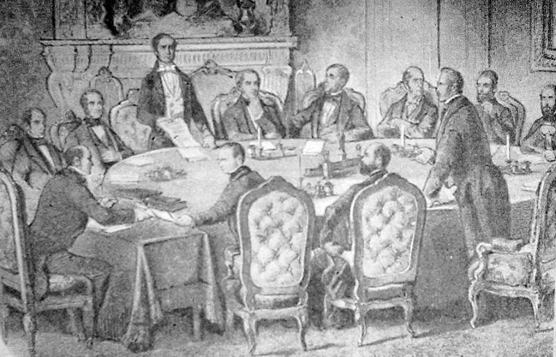 Tratatul de la Paris - Dezbaterile (30 martie 1856) foto: ro.wikipedia.org