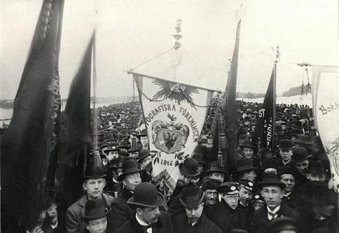Marş de 1 Mai în Suedia, 1899 - foto: ro.wikipedia.org