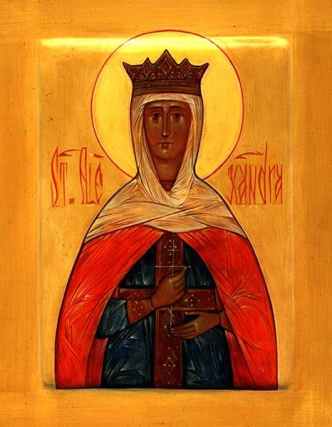 Sfânta Muceniță Alexandra, împărăteasa. Praznuirea sa de catre Biserica Ortodoxa se face la data de 21 aprilie - foto preluat de pe ro.orthodoxwiki.org