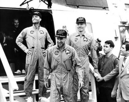17 aprilie 1970: Echipajul de pe Nava spațială Apollo 13, care a suportat un eșec, s-a întors pe Terra în siguranță - foto: ro.wikipedia.org