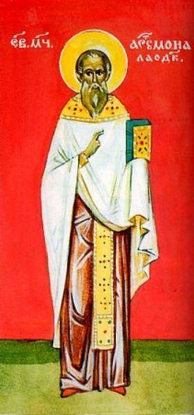 Sfântul Sfințit Mucenic Artemon preotul, din Laodiceea. Prăznuirea sa de către Biserica Ortodoxă se face la data de 13 aprilie - foto: basilica.ro