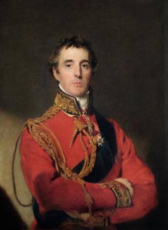 Arthur Wellesley, Primul Duce de Wellington, (n. 1 mai 1769 – d. 14 septembrie 1852) a fost un ofițer și om de stat britanic, născut în Irlanda și care astăzi este recunoscut ca fiind una dintre personalitățile de prim rang pe plan militar din epoca modernă. Și-a început cariera militară ca sublocotenent în armata britanică și s-a remarcat îndeosebi în războaiele napoleoniene, avansând până la gradul de general și Feldmareșal. În 1815 a condus o armată britanică care a participat decisiv la înfrângerea finală a lui Napoleon I la Waterloo. A fost de două ori prim-ministru al Marii Britanii în perioada 1828-1830 precum și timp de 3 săptămâni în 1834. El a avut doi fii, cel mai mare fiu, Arthur Richard Wellesley urmează cariera militară ca și tatăl lui, ajungând general - foto: ro.wikipedia.org
