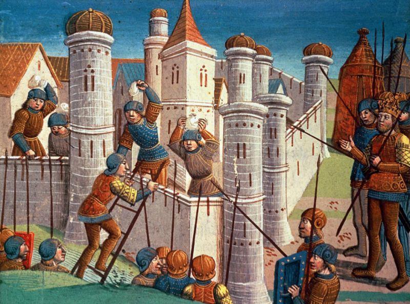 Căderea Constantinopolului (29 mai 1453) - Parte a Războaielor bizantino-otomane (pictură din 1499) - foto preluat de pe ro.wikipedia.org