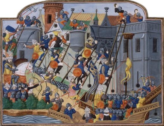 Asediul și Căderea Constantinopolului (6 aprilie - 29 mai 1453) - foto preluat de pe ro.wikipedia.org