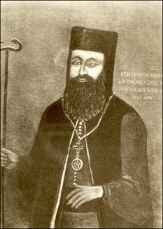 Atanasie Anghel (născut la Bobâlna, Hunedoara, d. 19 august 1713, Alba Iulia) a fost un episcop român. Urmaș al lui Teofil Seremi în scaunul Mitropoliei Bălgradului (Alba-Iuliei), a continuat și desăvârșit eforturile acestuia de unire a românilor transilvăneni cu Biserica Romei, pentru crearea Bisericii Române Unite cu Roma, cunoscută și sub numele de Biserica Greco-Catolică Română - foto: ro.wikipedia.org