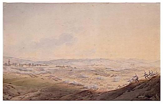 Bătălia de la Eckmühl, denumită și Bătălia de la Eggmühl a avut loc între 21 și 22 aprilie 1809, fiind una dintre confruntările majore din Războiul celei de-a Cincea Coaliții. Bătălia a opus o armată franco-germană, la început sub comanda lui Davout, apoi a lui Napoleon I, unei armate austriece, conduse de Arhiducele Carol al Austriei - foto: ro.wikipedia.org